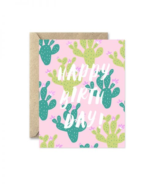 cactus happy birthday card pop shop america