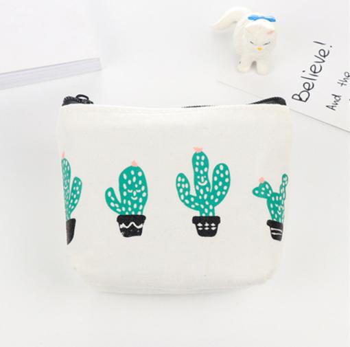 cactus pencil pouch coin purse canvas accessories pop shop america