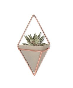 concrete and copper triangle planter pop shop america