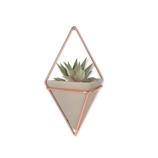concrete and copper triangle planter pop shop america