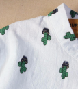 detail of cropped collar – potted cactus womens blouse