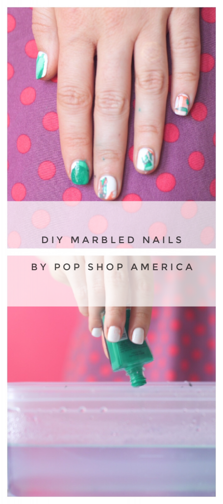 diy marbled nails pinterest graphic