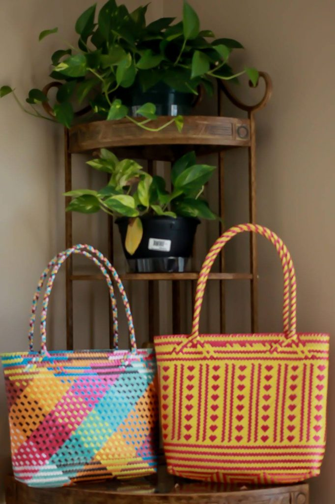 fair trade woven bags by tierra houston