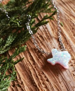 gemstone state of texas opal necklace