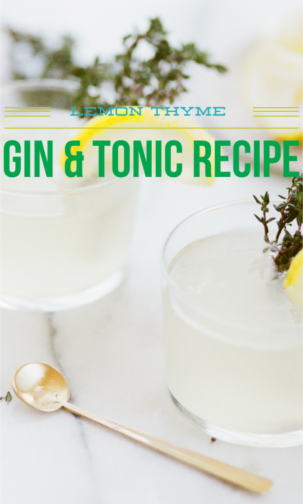 lemon thyme cocktail recipe the summer sun pinterest