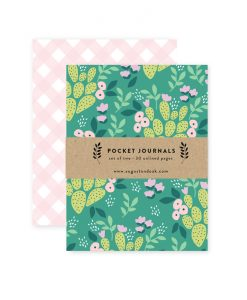 lush green cactus journals illustrated sketchbooks