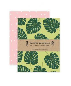 monstera leaf notebooks journal pop shop america