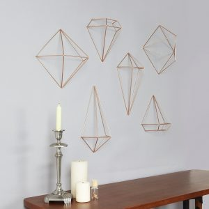 mounted geometric orb wall art