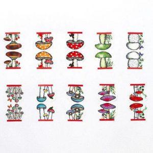 mushroom washi tape made in japan