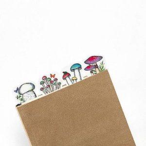 mushrooms washi tape craft supplies