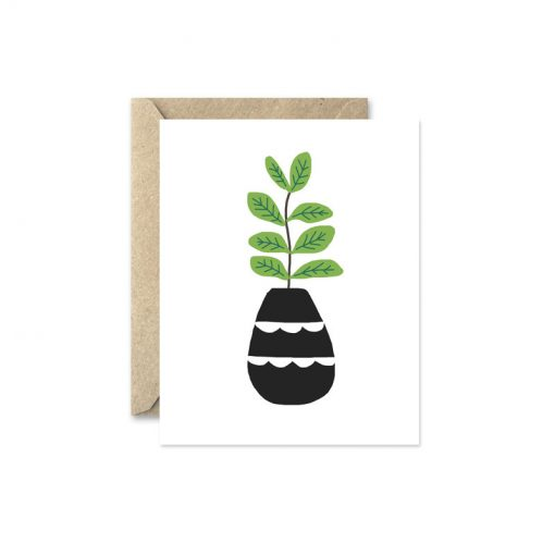 oregano potted herb greeting card