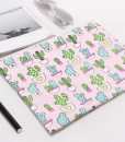 pink and green cactus canvas clutch