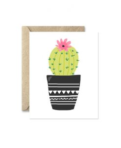 potted cactus greeting card pop shop america