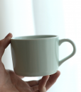 side view of ceramic mug mint color