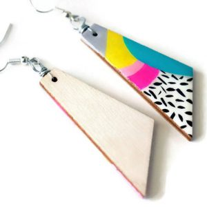 side view of the max earrings – handmade jewelry