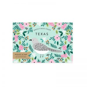 texas state bird mockingbird postcard set