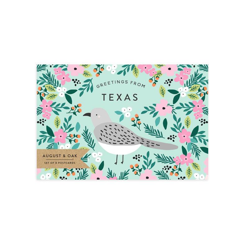 texas state bird postcard set