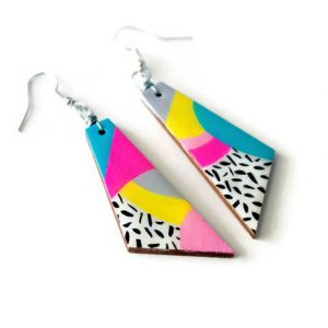 the max – 80s inspired geometric dangle earrings