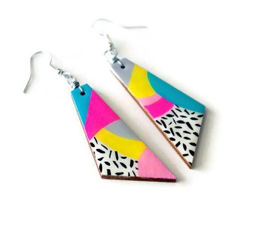 the max - 80s inspired geometric dangle earrings