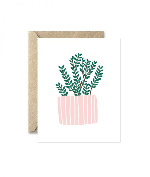 thyme potted herb greeting card