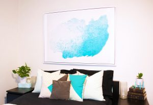 Watercolour Mural DIY tutorial