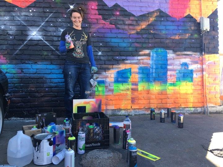 Lindsay Burck_Artist Image Mural
