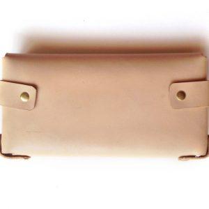 back of large tan leather wallet pop shop america