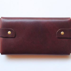 back of mahogany leather wallet – large wallet