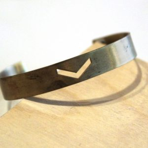 brass chevron bangle bracelet pop shop america_web