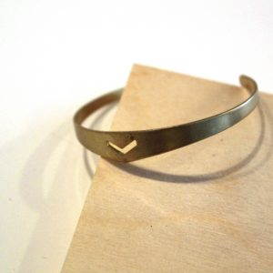 brass chevron skinny bangle bracelet pop shop america_web