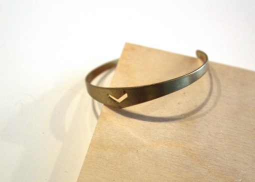 brass chevron skinny bangle bracelet pop shop america_web