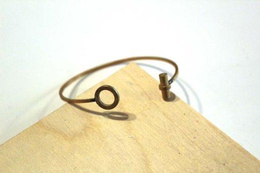 circle and line modern brass bracelet_web