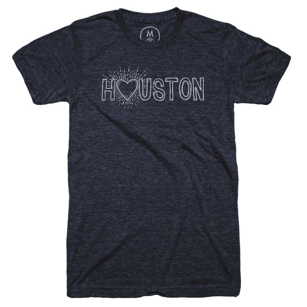 heart with houston t shirt by ben gillin