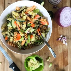 lemon and vegetable summer pasta salad recipe