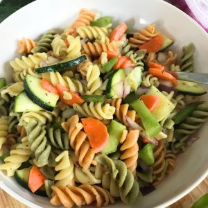 lemon and veggie summertime pasta salad recipe