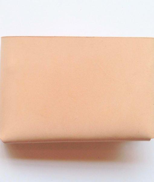 minimalist tan leather wallet pop shop america