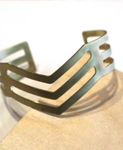 triple arrow chevron brass bangle bracelet_web