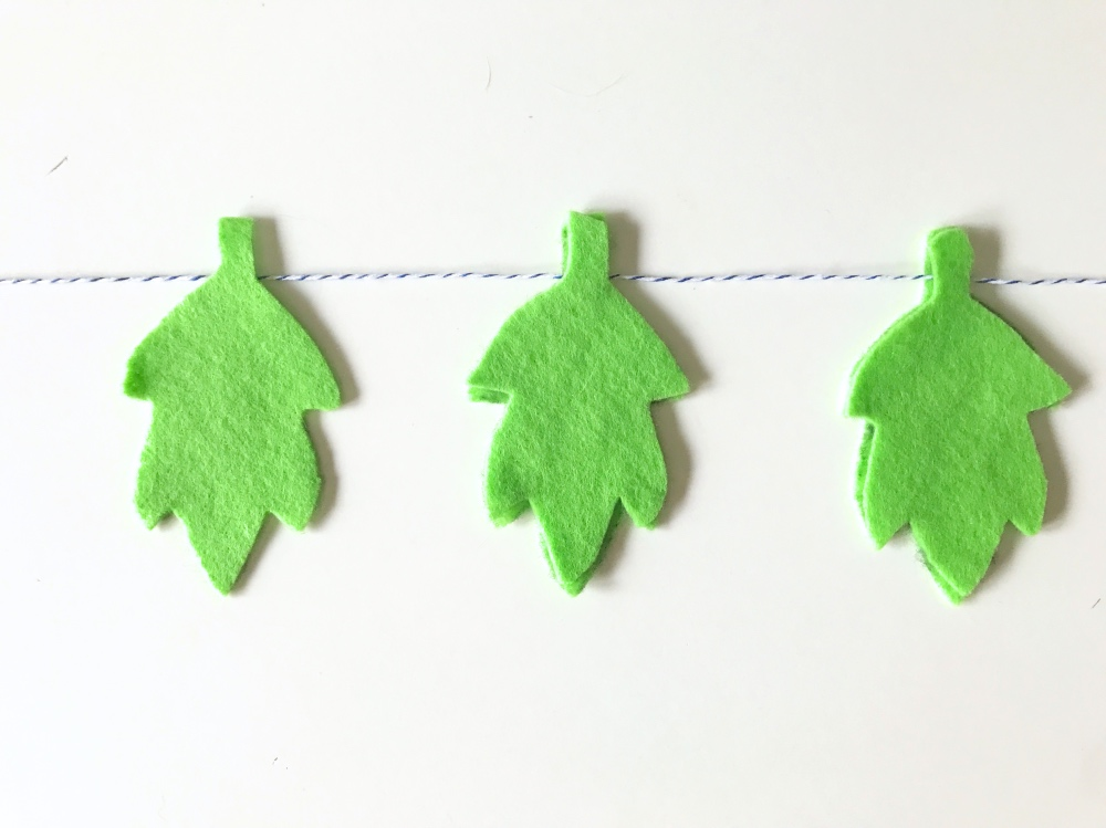 simple leaf garland diy pop shop america