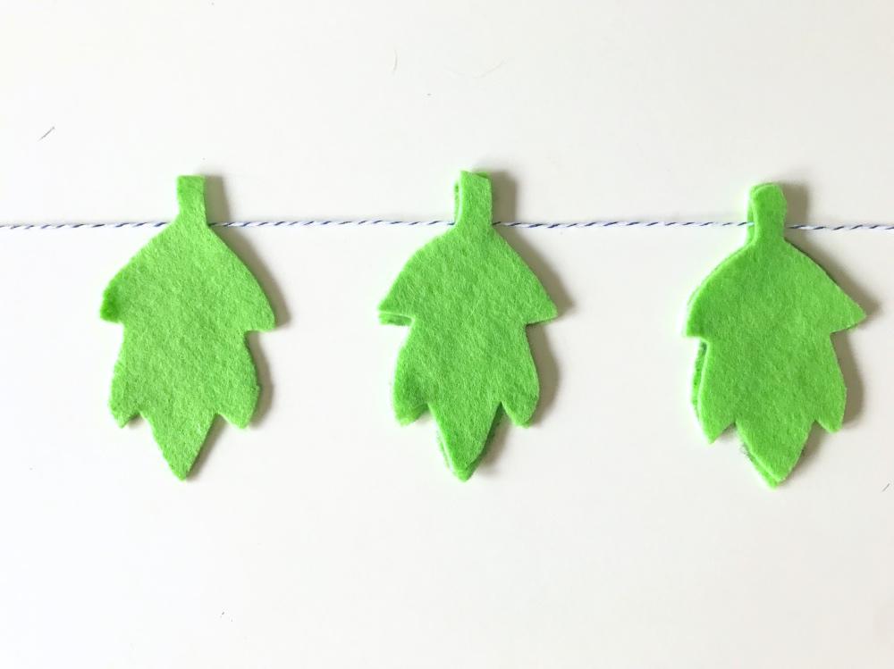 simple leaf garland diy pop shop america