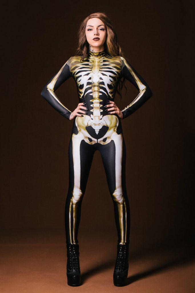 skeleton halloween catsuit - pop shop america