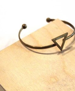 skinny triangle brass bracelet_web