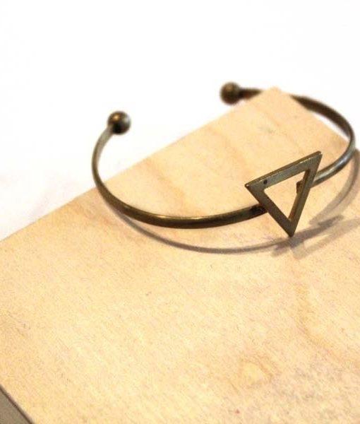 skinny triangle brass bracelet_web