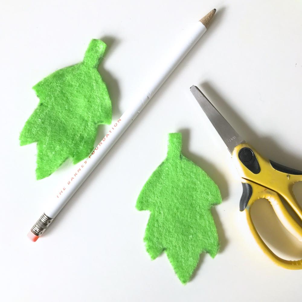 supplies for making a fall leaf garland pop shop america