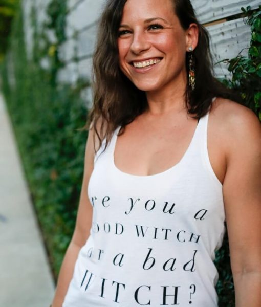 Good Witch Bad Witch White Tank Top T-Shirt Pop Shop America