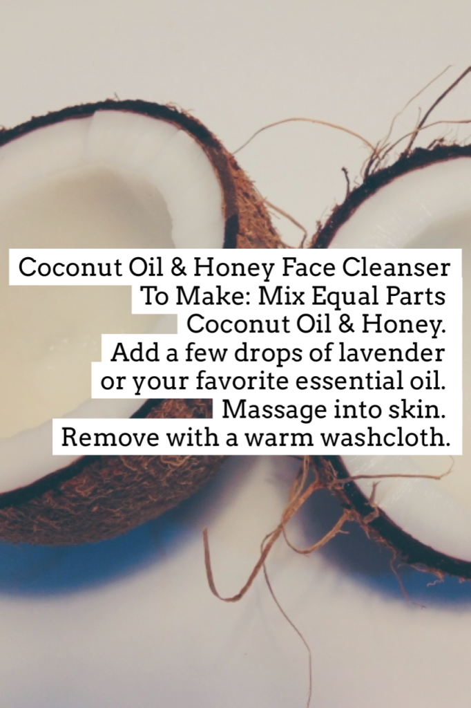 diy coconut oil and honey face cleanser pop shop america