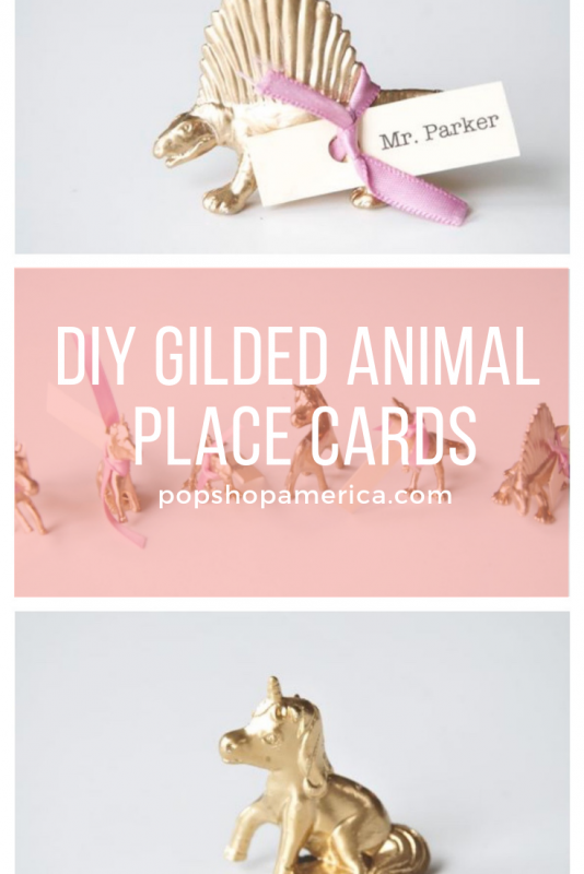 diy gilded animal place cards pop shop america crafts