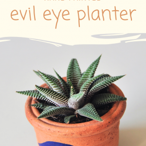 hand painted evil eye planter diy pop shop america