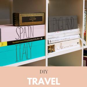 how to make a diy travel keepsake box