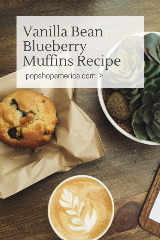 how to make vanilla bean blueberry muffins recipe