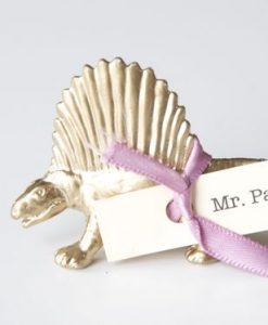 solo gilded dinosaur placecard wedding diy pop shop america